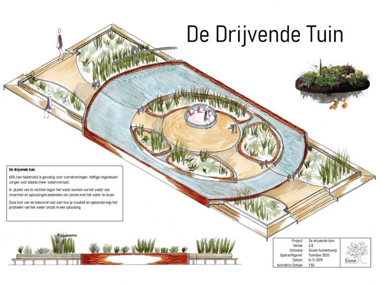 Elusie tuinontwerp isometrie tuinidee 2020