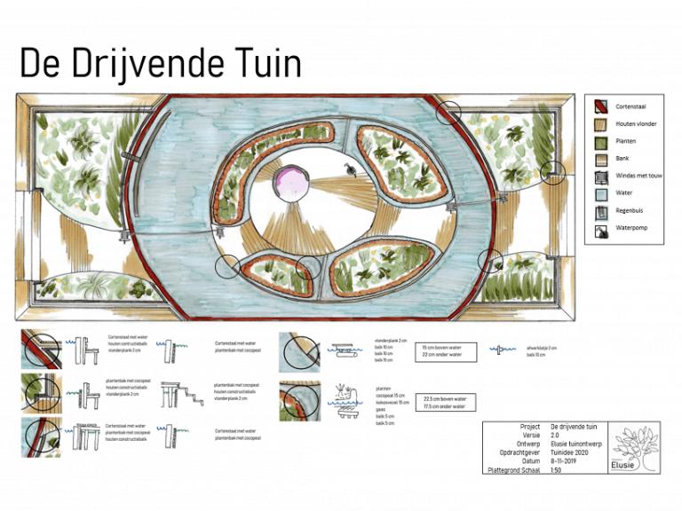 Elusie tuinontwerp plattegrond tuinidee 2020