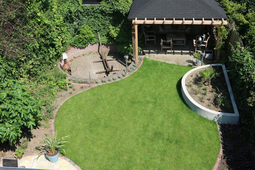 tuinontwerp bovenaanzicht ronde vormen