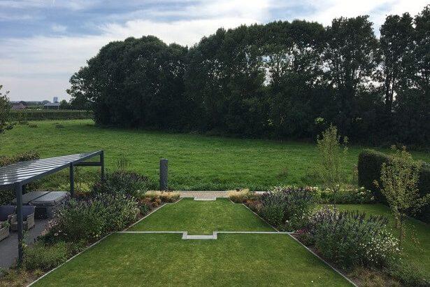 tuinontwerp hoogteverschil trappen uitzicht