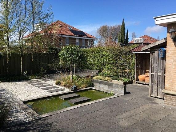 tuinontwerp oude situatie Nijmegen hovenier