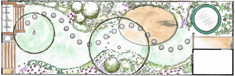 tuinontwerp plattegrond tekening Nijmegen