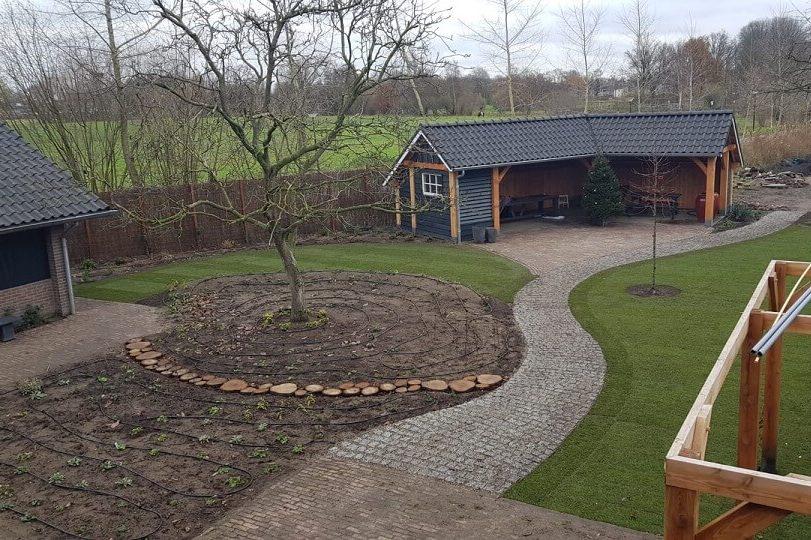tuinontwerp tuinarchitect hovenier bovenaanzicht tuin